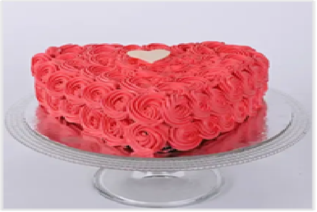 Valentine Heart Shaped Cake (Vanilla) -1 kg