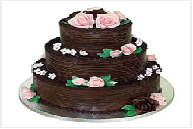 3 Tier Chocolate Cream Cake (5 kg)