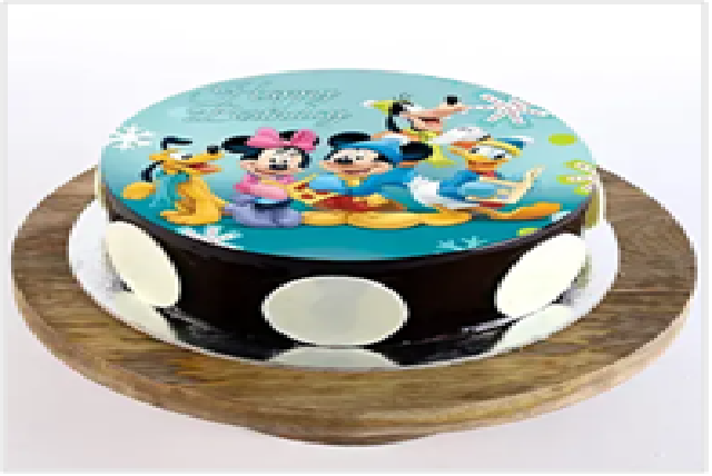 Mickey Choco Photo Cake